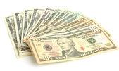 вентилятор долларов — Стоковое фото