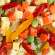 Stockfoto: Frozen mixed vegetables