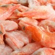 Frozen shrimps — Stock Photo
