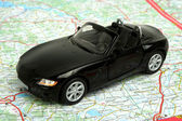 Car on map — Stock Photo
