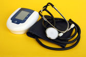 Equipment of measuring blood pressure — Stock Photo