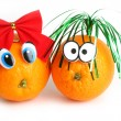 Funny oranges with eyes - 