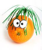Funny orange with eyes — Stock Photo