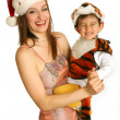 Mother with baby in fancy dress — Foto Stock