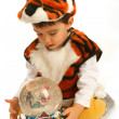 Little boy in fancy dress — Stock Photo