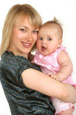 Young mother with baby girl — Stock Photo