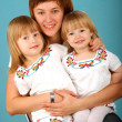 Mother with two daughters — Stock Photo #1951562