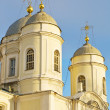 Orthodox church in St-Petersburg, Russia - Stock Photo