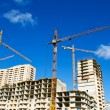 Area of construction with cranes — Stock Photo