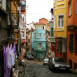 Old cobblestone street in Istanbul - Stock Photo