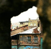 View of poor district in Istsnbul — Stock Photo