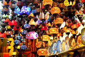 Lamps in Turkish shop, Istanbul — Stock Photo