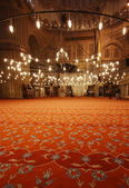 清真寺的内部 — 图库照片