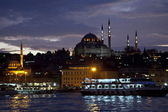Golden horn by night, Istanbul — Stock Photo