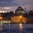 Golden horn by night, Istanbul - ストック写真