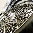 Stock Photo: Metal wheel of bike