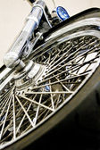 Metal wheel of bike — Stock Photo