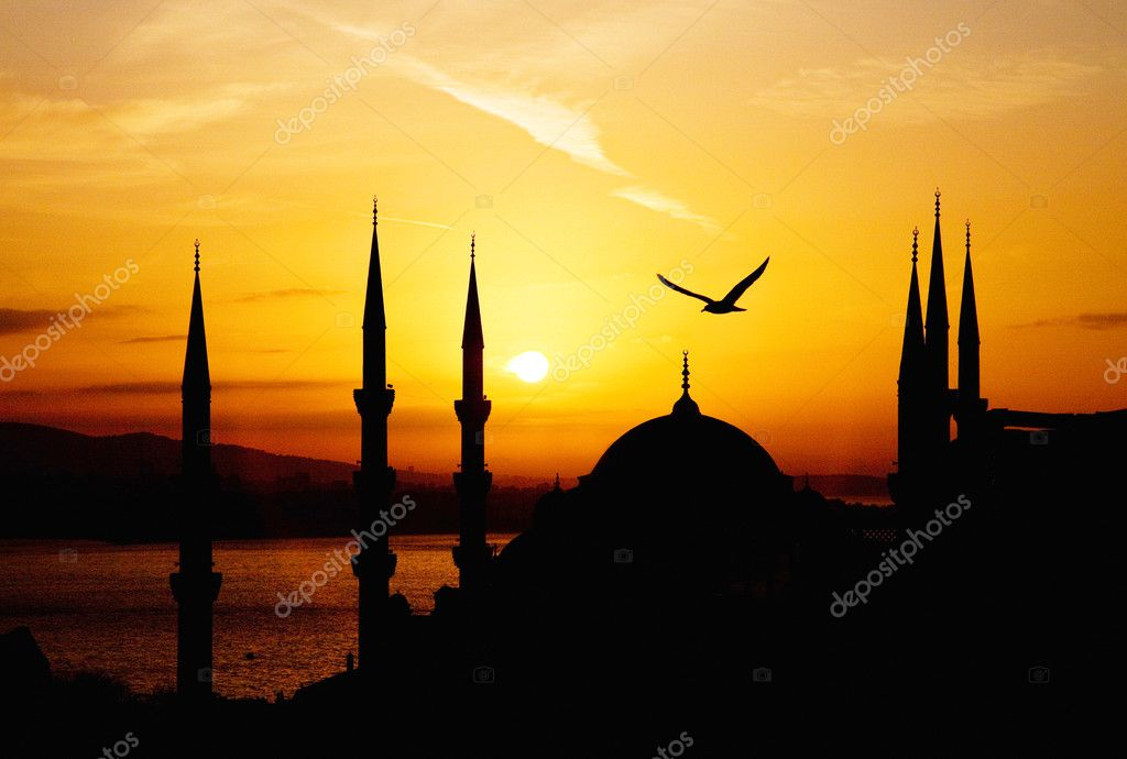 View of Sultanahmet by night, Istanbul — Stock Photo #2615359