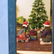 Stock Photo: chrismas window