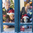 Christmas window — Stock fotografie