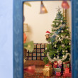Christmas window — Stock Photo