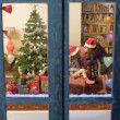 Chrismas window - Stock Photo