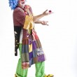 Clown with present — Stock Photo #1337340