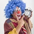 Clown alarm clock — Stock Photo