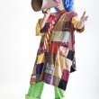 Clown with megaphone — Stock Photo #1337538