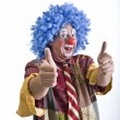 Stock Photo: Clown thumbs-up