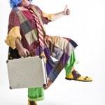 Clown suitecase — Stock Photo