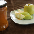 Stock Photo: Honey and apple