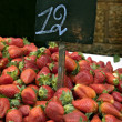 Pile of  Strawberries in the market - Stock Photo
