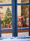 Chrismas window — Stock Photo