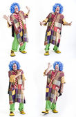 Four clown gestures — Stock Photo