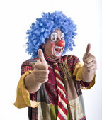Clown thumbs-up — Stock Photo