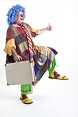 Clown suitecase — Stock Photo