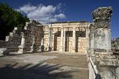 Synagogue Capernaum — Stock Photo