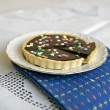 Chocolate Tart - Stock Photo