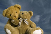 Loving Teddy bears — Stock Photo