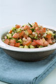 Israeli salad — Stock Photo