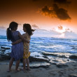Stock Photo: Girls beach sunset