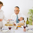 Jewish family celebrating passover — Stock Photo #1410541