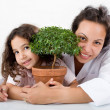 Teacher child plant - Foto Stock