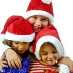 niños y regalos — Foto de Stock