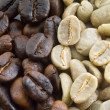 Black and green coffee beans — Stock Photo #1413060