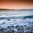 Stock Photo: Sunrise over the dead sea