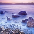 Sunrise over the dead sea - Stockfoto