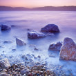 Sunrise over the dead sea - Stock Photo