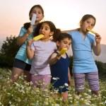 Kids having pop ice — Stock Photo